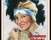 Vintage Screen Book Magazine Cover - Circa 1920 - Featuring Joan Clarke - Giclee Re-Print