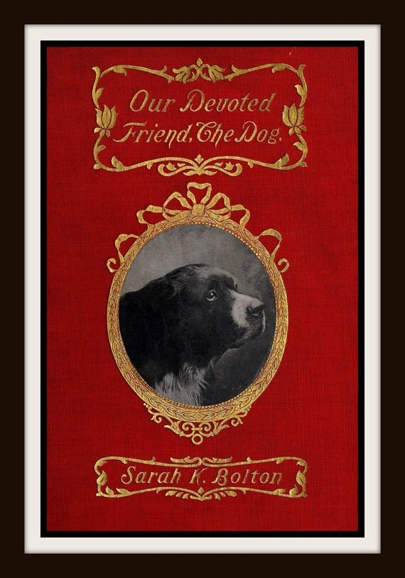Book Cover Art Etsy : Items similar to vintage book cover quot our devoted friend