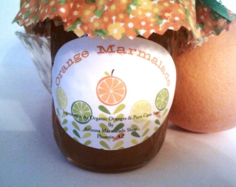 Arizona Orange Marmalade/ 4 or 8 Oz/ Organic/ Sweet/ Treasury Item