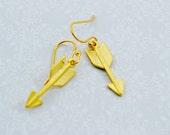 Gold Arrow Dangle Earring...