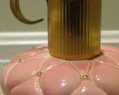 Vintage Evans Pink & Gold Table Top Lighter