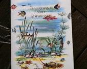 Vintage Souvenir FLORIDA Address Book- Underwater Scene