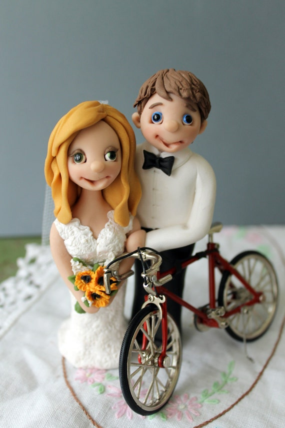 bicycle wedding cake topper uk personalized bicycle wedding cake topper by 11736
