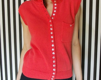 80's Cotton Sweater Sleeveless