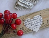 300 Confetti Hearts - Vintage German Paper in Beautiful Old Style Font