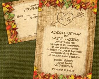 Custom Rustic Fall Wedding Invitations