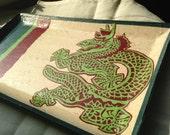 Dragon Hanji Tray Vide-Poche Rectangular Handmade - HanjiNaty
