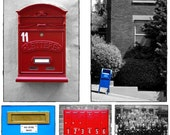 Lot of 5 Postal Mailbox related Postcards for postcrossing | mailbox, mail slot, post office, mail carrier, junk mail