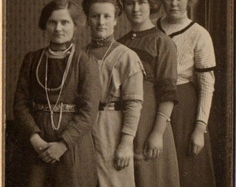 Visiting Card, Four Women