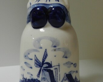 Delft Blue Bell with Girl on top