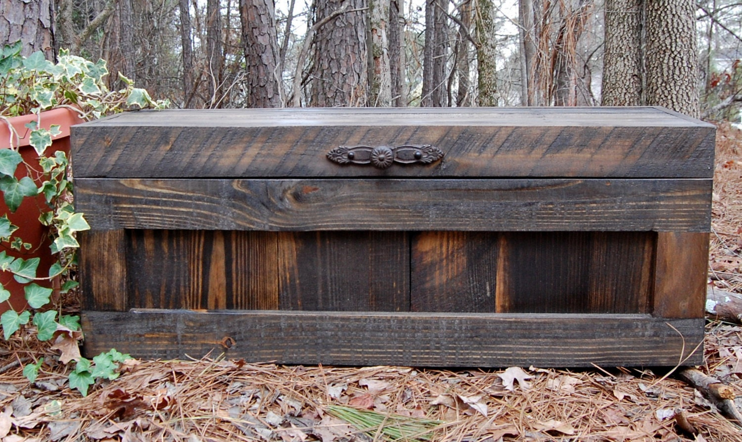 Hope Chest/ Toy Box/ Blanket Storage/ Reclaimed Wood/ Small Chest/ Jacobean - Pallet Chest Etsy