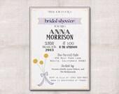 5x7 Craspedia Bridal Shower Custom Printable Invitation