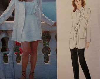 "Jacket, Shorts & Pants by Donna Karan -  1990's - Vogue Pattern 1551   Uncut   Sizes 8-10-12  Bust 31.5 - 32.5 - 34"""