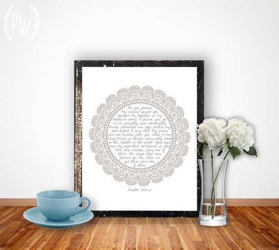 Christian Wall Decor For Nursery : Nursery bible verse print scripture art by printablewisdom
