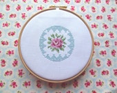 Rose Cross Stitch PDF Pattern Cath Kidston Style