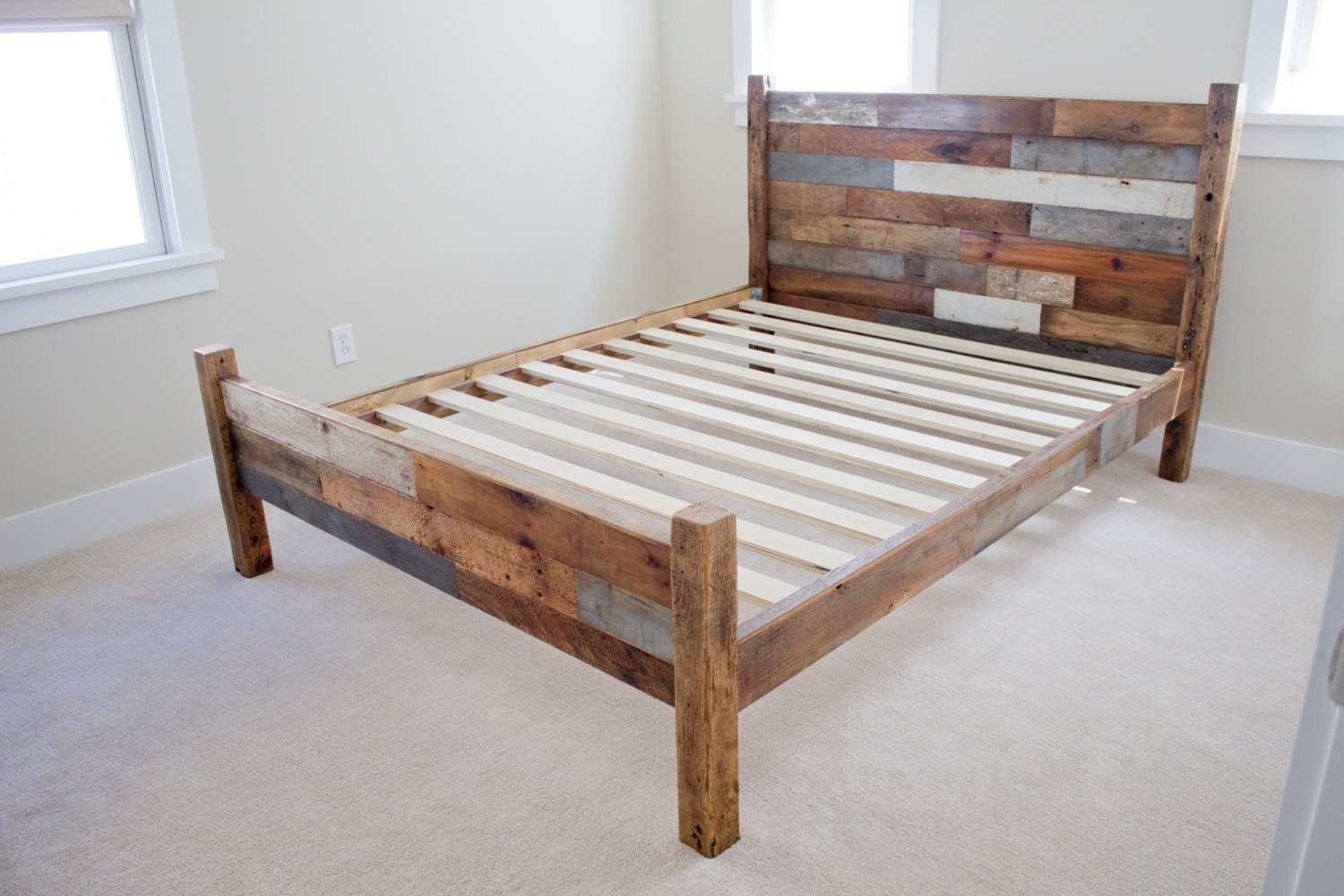 RESERVED For Alan Reclaimed Pallet And Barn Wood Queen Bed