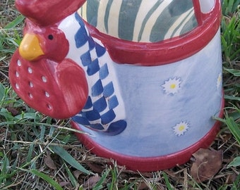 Rooster Watering Can Marked WCL Ceremic
