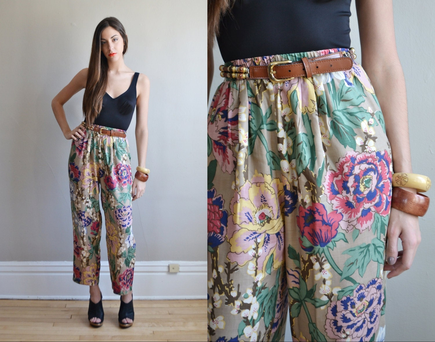 Fantastic RiV Black Floral Harem Pants  Girls  Zulily