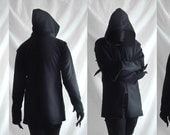 Shadow Hoodie ( coat or suit like mens hoodie with mask like nose high long collar)