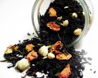 Perfumed Tea Blends- The Jade Lady. Earl Grey, Jasmine, Damask Rose. 1.75oz. Organic Fair Trade.