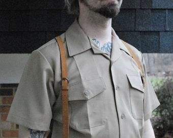 Khaki Uniform Shirt, Steampunk / Dieselpunk Style