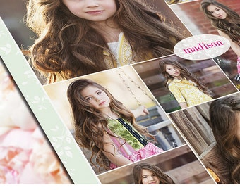 Collage Template - 16x20 Print Template - Blog Board - Storyboard Photoshop Template - 1066