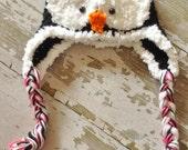 Baby Penguin Earflap Hat