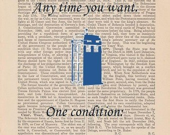 Doctor Who Art: Any Time you Want, Anywhere You Want, One Condition, It has to be Amazing (Dictionary Art)