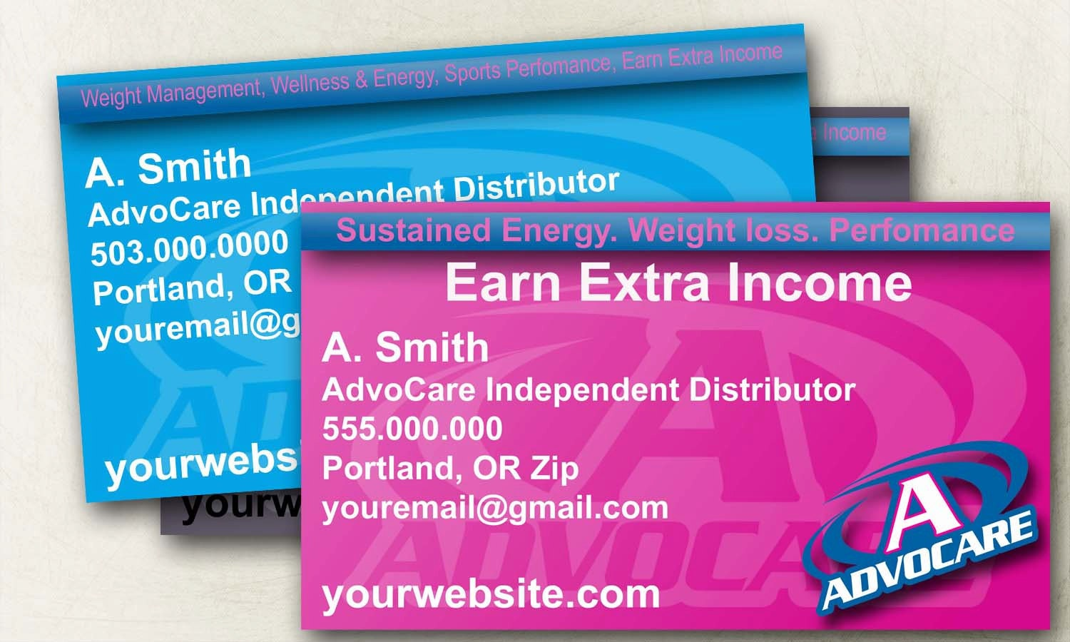 Custom AdvoCare Business Cards