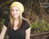 Yellow Slouchy Hat Womens Oversize Hipster Mens Beanie