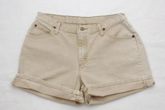 90s Vintage WRANGLER High-Waist TAN Jean Shorts