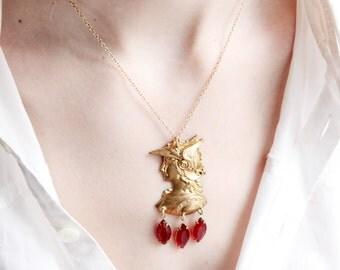 Brass Hermes Necklace