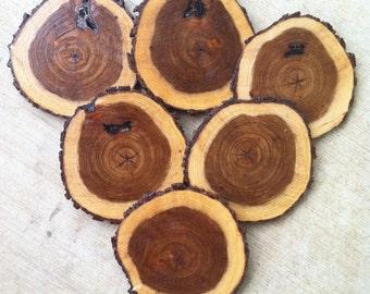 Coasters, Texas Mesquite Wood Coasters -  set of 6