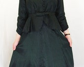 Early, Original Handmade 1950s Suit - Skirt and blouse/jacket with Peplum