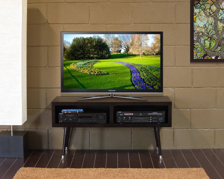 retro mid century tv stand console mayan double bay espresso. Black Bedroom Furniture Sets. Home Design Ideas