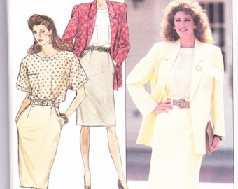 Butterick 6007 CLEARANCE Vintage  Pattern Womens Slim Skirt, Blouse and Jacket  Size 6,8,10 UNCUT