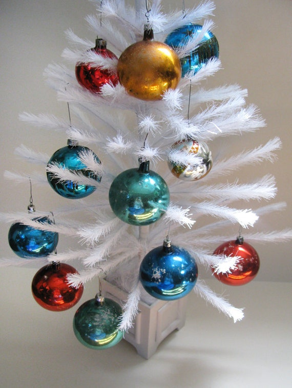 11 Glass Ball Christmas Ornaments Made in Poland by ...