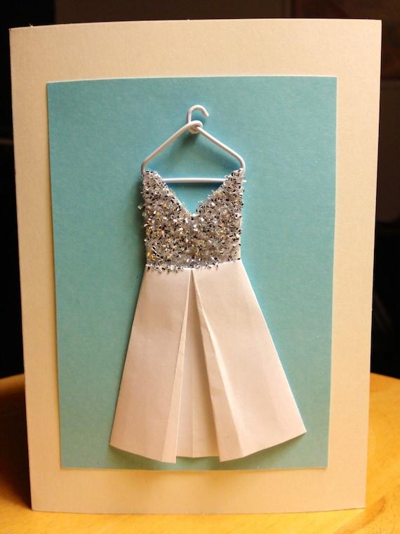 Origami Wedding Dress Card Fashion Woman Congratulations - photo#7