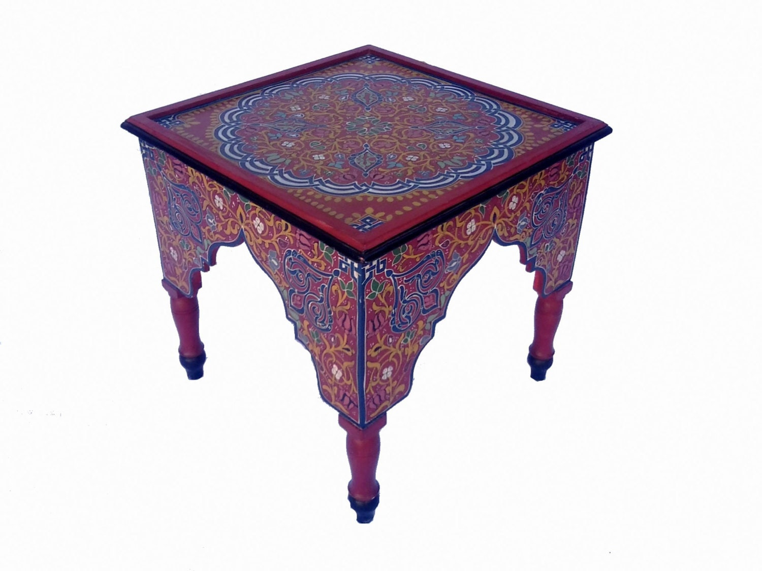 Beautiful Moroccan Mini Coffee Table Handcrafted From Wood