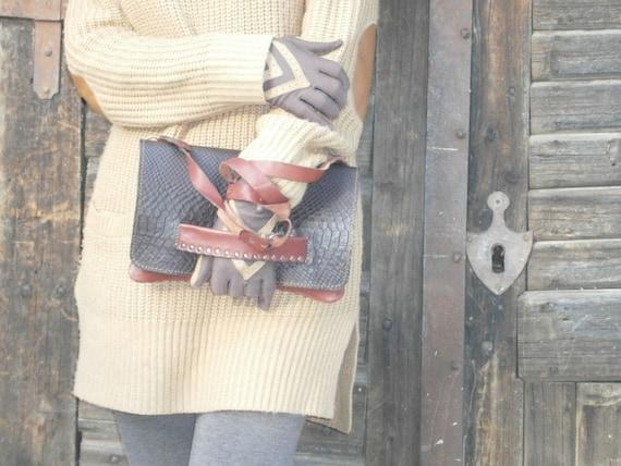 Genuine Leather Clutch, Crossbody Clutch, Handmade Clutch, Snake inprinted Clutch, Hand Clutch, Evening Purse, Leather Purse, Cocktail Bag