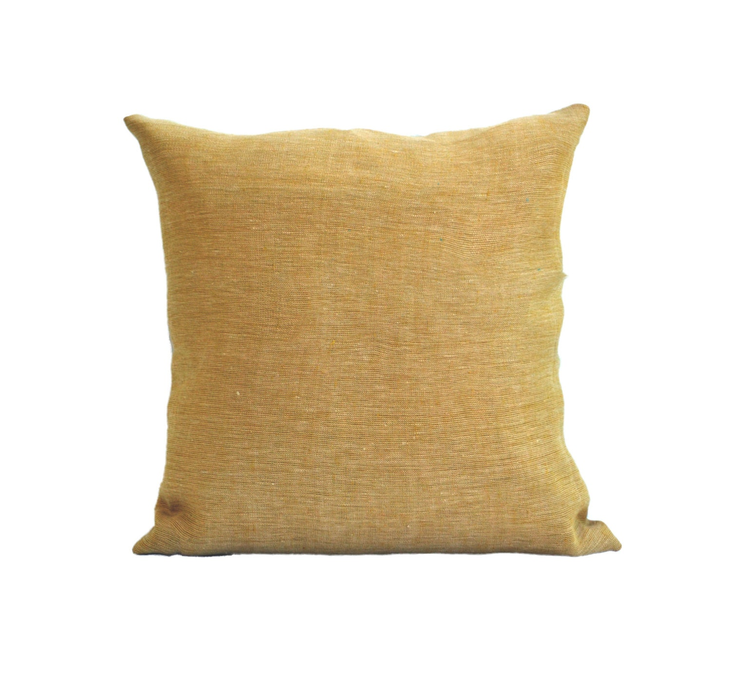 Pale Yellow Decorative Pillows : Natural linen pale yellow pillow cushion with zipper pale
