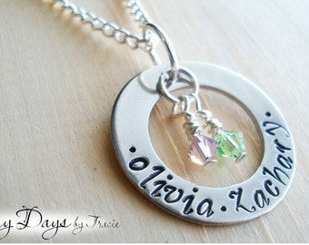 Mother's necklace with names and birthstones - Mother's Day - Mommy - Wife - Grandmother
