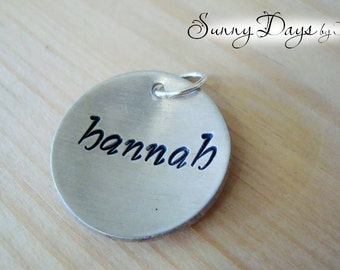 "Add-on 3/4"" discs - Mother's Necklaces - Children's Names"