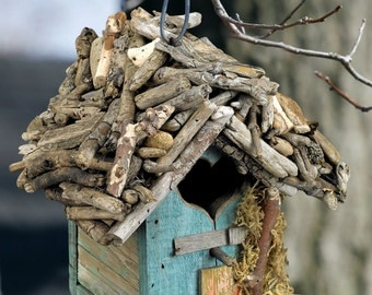 Reclaimed Wood & Driftwood Birdhouse