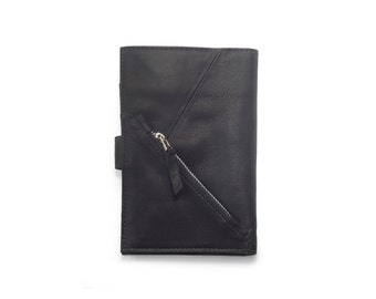Leather Women Wallet in Black, Gift For Her, Black Wallet, Women Wallet, Leather Goods, Credit Card Wallet