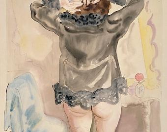 Art Print Woman at Dressing-Table Print