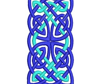 Machine Embroidery Design Instant Download - Celtic Knotwork Rectangle 1 (Two Tone)