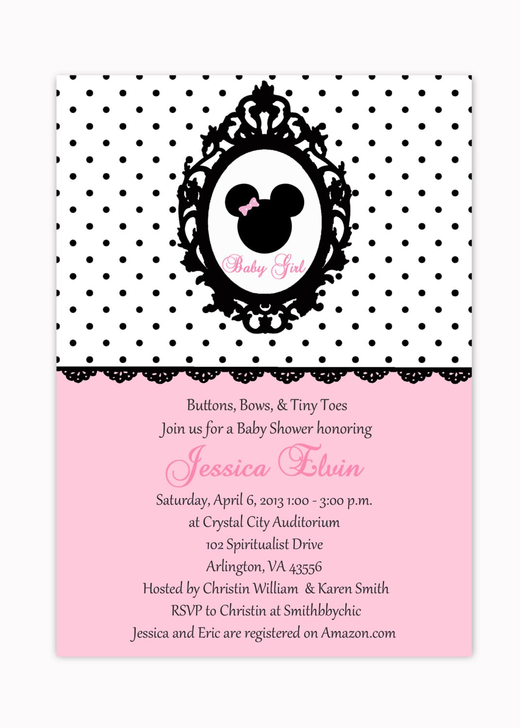 blank minnie mouse baby shower invitations minnie mouse pink polka