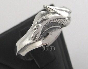 Dragon, ring, sterling silver
