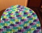 Crochet Wildflower Slouch Hat